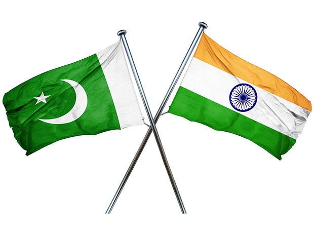 Flags of Pakistan (left) and India. Photo: Shutterstock