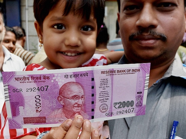 The new Rs 2000 note issued after the government declared that existing Rs 500 and Rs 1000 notes were no longer legal tender