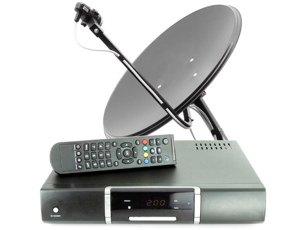 set-top box, set top box, dish, remote, TV