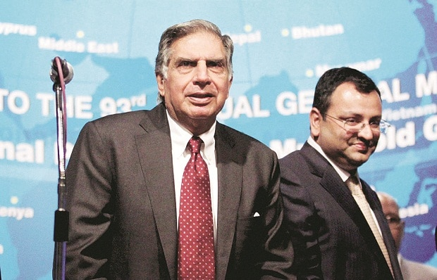 Ratan Tata and Cyrus Mistry (Right)