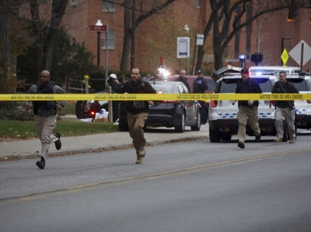 Police respond to reports of an active shooter on campus at Ohio State University