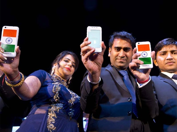 Freedom 251 smartphone. Photo: PTI