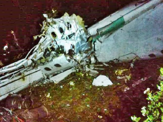 Plane crashes in Colombia with Brazilian soccer team on board