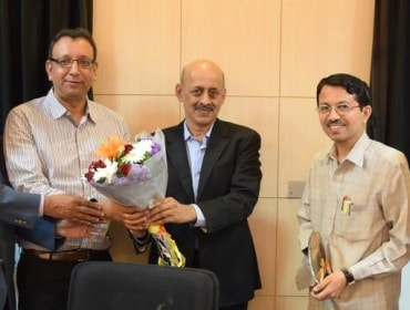 Officials of L&T Technology and CeNSE, IISc
