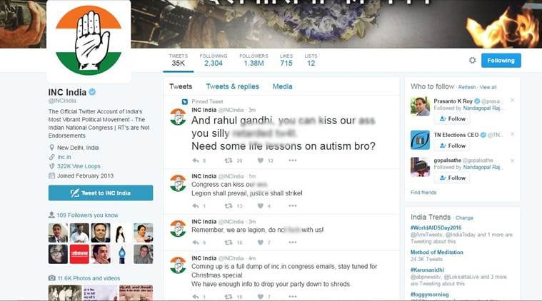 Congress, Rahul Gandhi's Twitter accounts hacked again