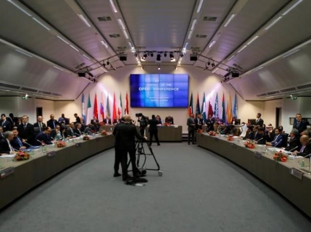 A general view of an Opec meeting in Vienna