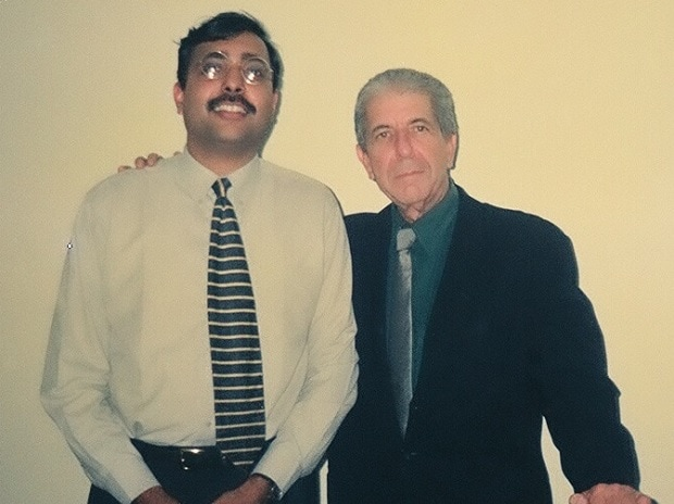 Ratnesh Mathur (left) with Leonard Cohen