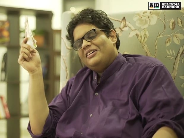 Tanmay Bhatt in the AIB video 'The demonetization circus'