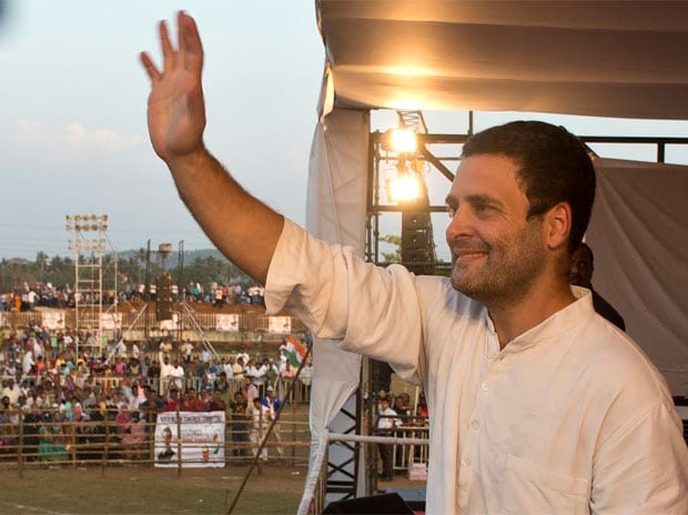 Congress Vice President Rahul Gandhi while addressing a rally in Goa.