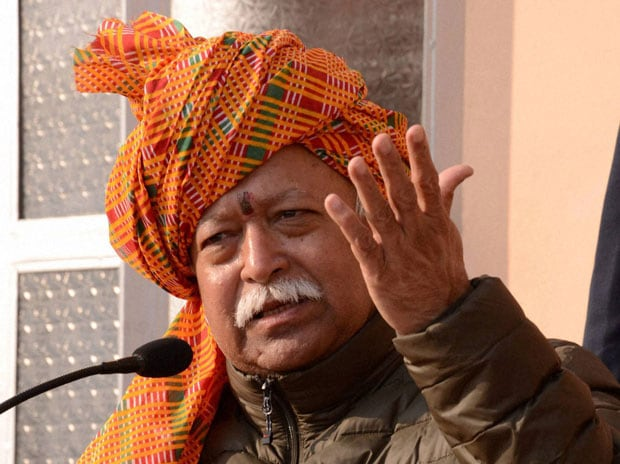 Rashtriya Swayamsevak Sangh Chief Mohan Bhagwat. Photo: PTI