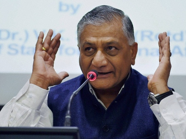 V K Singh, MoS, External Affairs