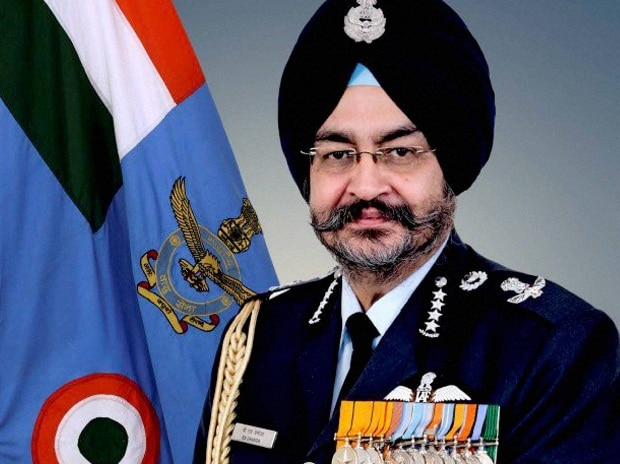 Air Chief Marshal B S Dhanoa, the Chief of Air Staff in New Delhi