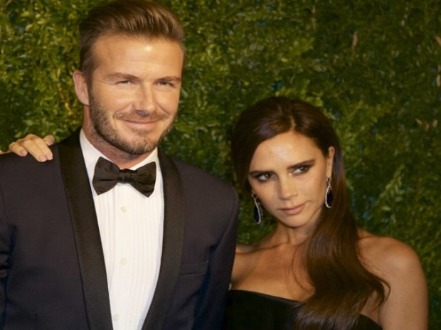 David Beckham and his wife Victoria
