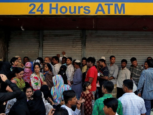 demonetisation, ATM, queues, banks, India