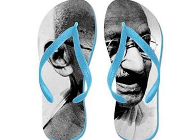 After blast from Sushma, Amazon removes flip-flops bearing Gandhi's image