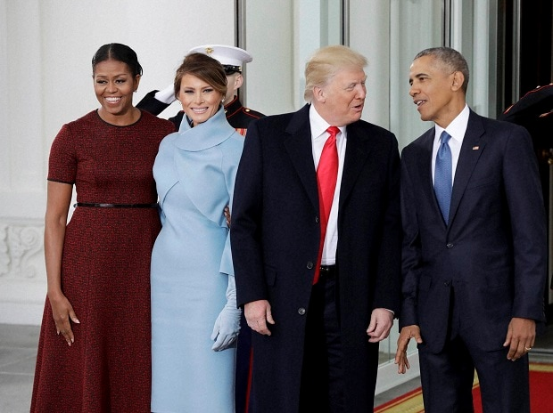 Donald Trump, Barack Obama, Michelle Obama, Melania Trump