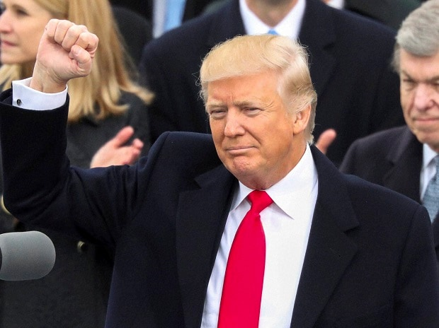 President Trump: A clenched fist for day 1