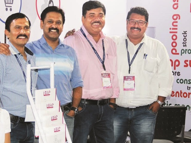LEAP team (from left) Vivek Kapoor, business manager; Sunu Mathew, promoter and managing director; Soumya Putatunda, head, strategy and supply chain; and Gaurav Singh, head, auto business. Photo: Kamlesh Pednekar