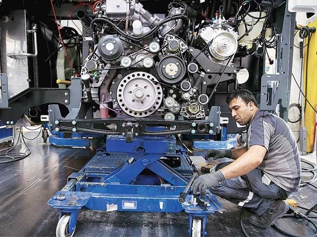 File photo of a worker at Amtek Auto