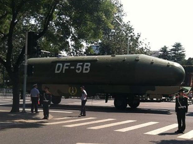 China, nuclear warhead, missile testing, DF-5C