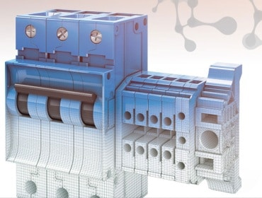 Electrical parts made from plastics