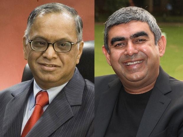 N R Narayana Murthy and Vishal Sikka