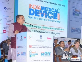 Ananth Kumar addressing the India Pharma conference in Bengaluru