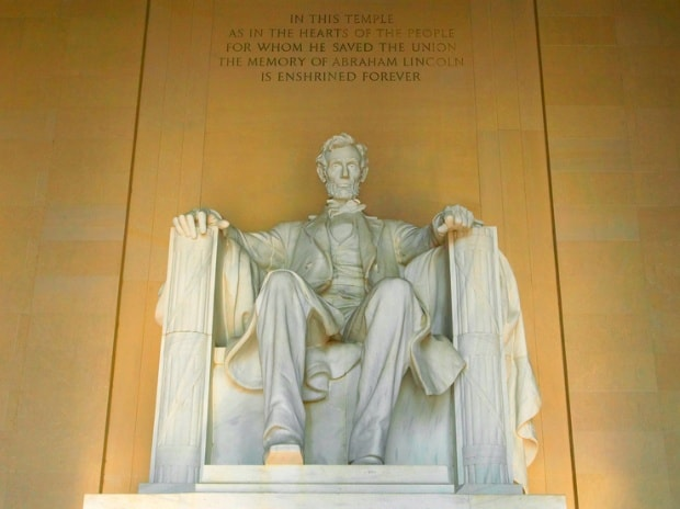 Abraham Lincoln Memorial. Photo: Shutterstock