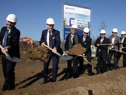 Kautex officials at ground breaking ceremony in Bonn