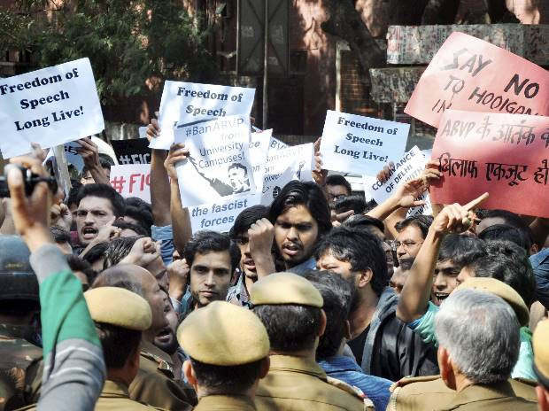 Protest, Ramjas College