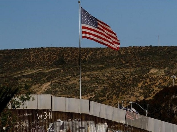US flag, wall, Mexico, United States, Tijuana, Mexico