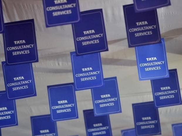 Logos of Tata Consultancy Services (TCS) are ...