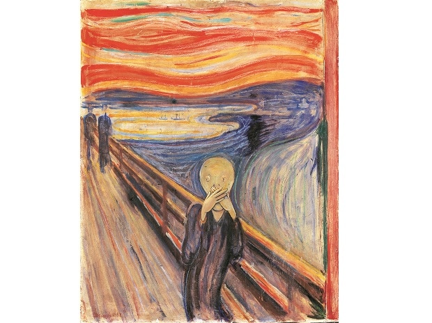 An adaptation of Edvard Munch's composition, The Scream; Imaging: Ajay Mohanty