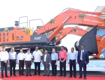 Tata Hitachi's 10,000th machine being handed over to VPR Mining