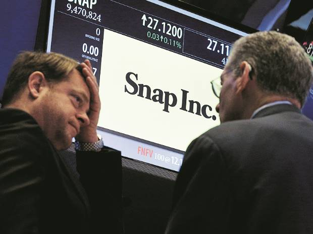 Snap's shares open at lowest since market debut