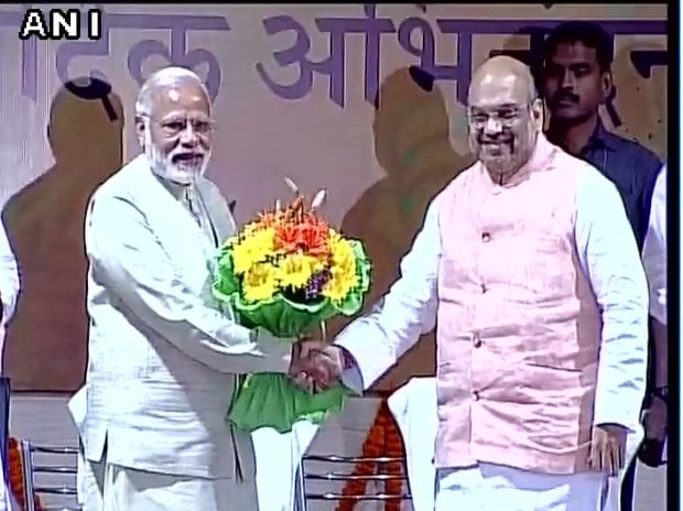 File photo of PM Narendra Modi, BJP chief Amit Shah