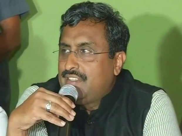 Ram Madhav. Photo: ANI Twitter handle