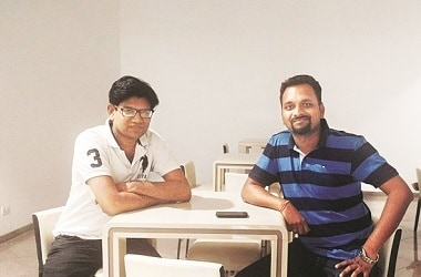 Siddharth Gadia (left) and Girish Agarwal, co-founders of Reap