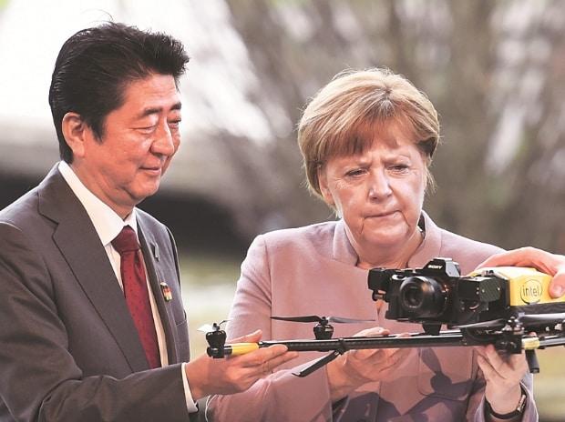 Japan, Germany, Angela Merkel, Shinzo Abe
