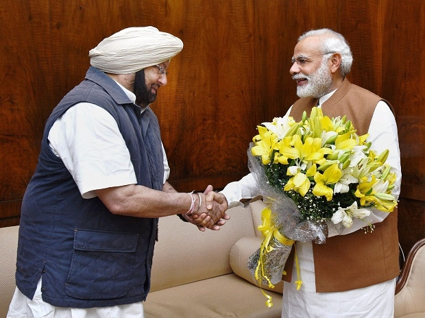 Amarinder meets PM Modi, FM Jaitley; bats for farm loan waiver