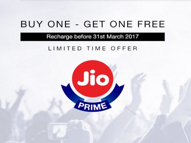 Reliance Jio Buy One Get One offer.  Photo: ...