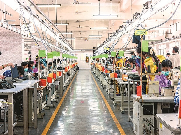 A file photo of a sewing line at Gokaldas Exports