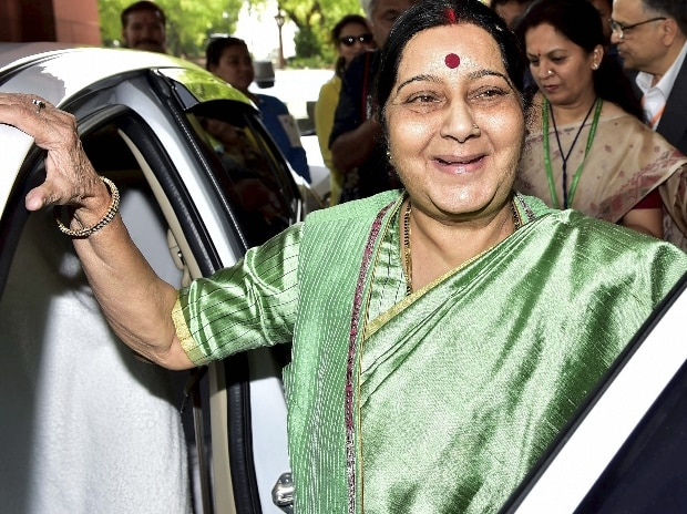 File photo: External Affairs Minister Sushma Swaraj at Parliament House in New Delhi