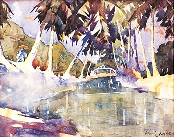 A painting by KCS Paniker, the artist-teacher who led the Madras Art Movement. Courtesy: Cholamandal Artists' Village