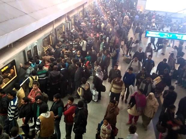 Rajeev Chowk, Metro station