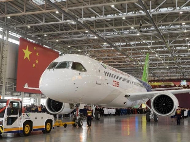 Second C919 takes first trial flight in Shanghai