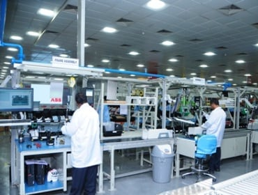 ABB India's new production line for digitally enabled low voltage drives