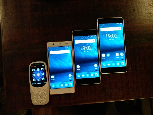 Nokia 3310, Nokia 3, Nokia 5 and Nokia 6. Photo: Khalid Anzar