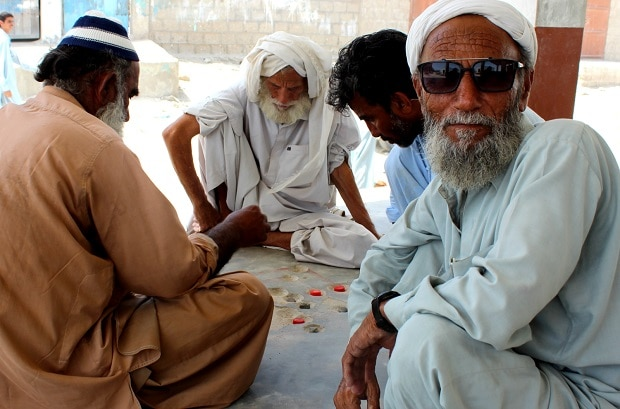 CPEC remains an unfamiliar name to these men in Sur Bandar [image by: Zofeen T Ebrahim]
