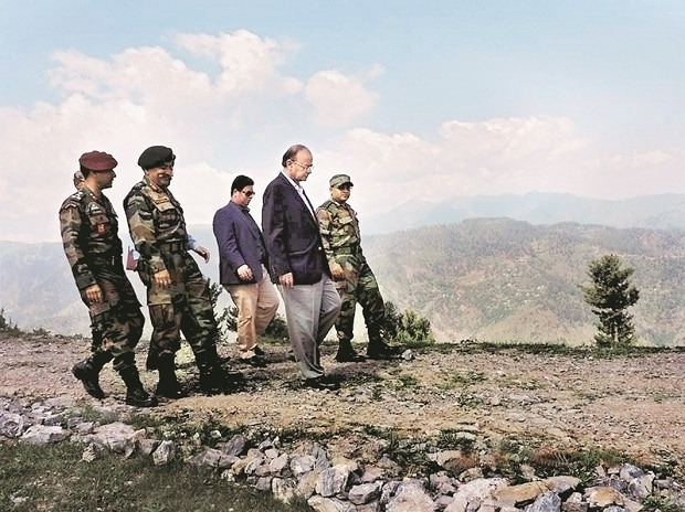 Finance Minister Arun Jaitley, who also holds the defence portfolio, reviews the security situation in the Valley on Friday